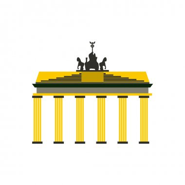 Brandenburg gate icon in flat style
