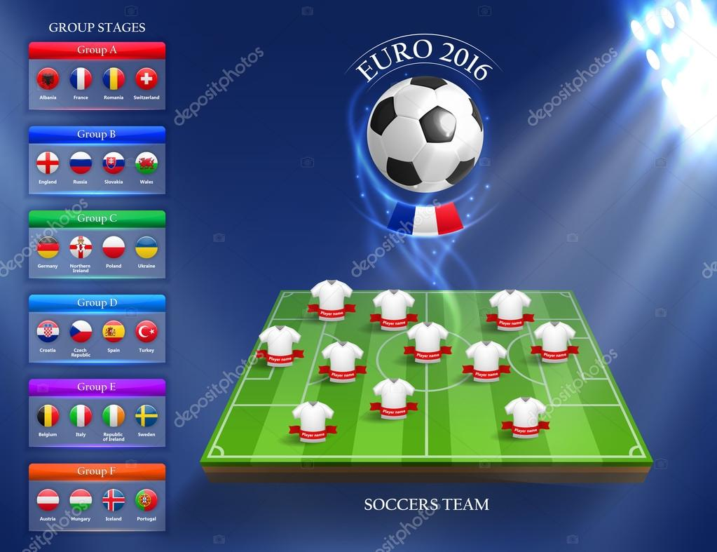 Euro 2016 group stage concept