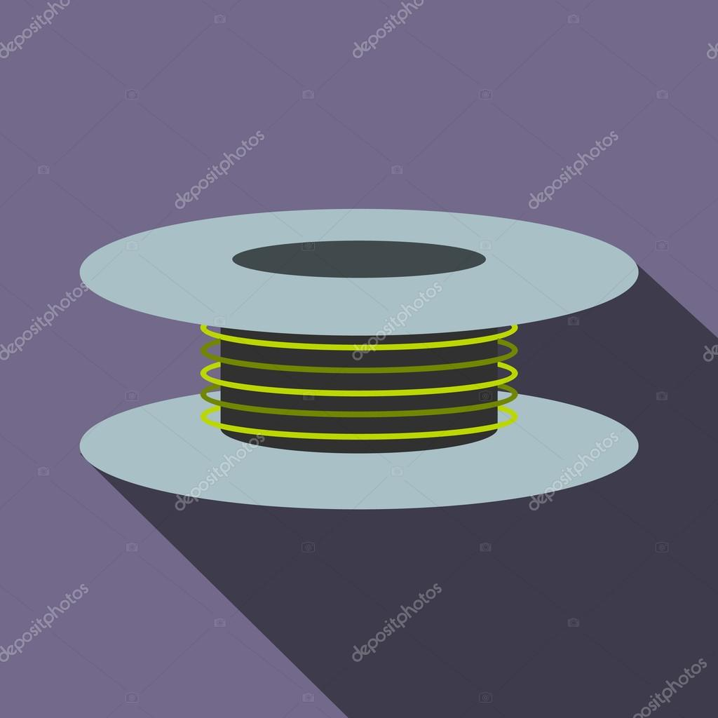 Draht-Spule-Symbol, flache — Stockvektor © juliarstudio #105897884