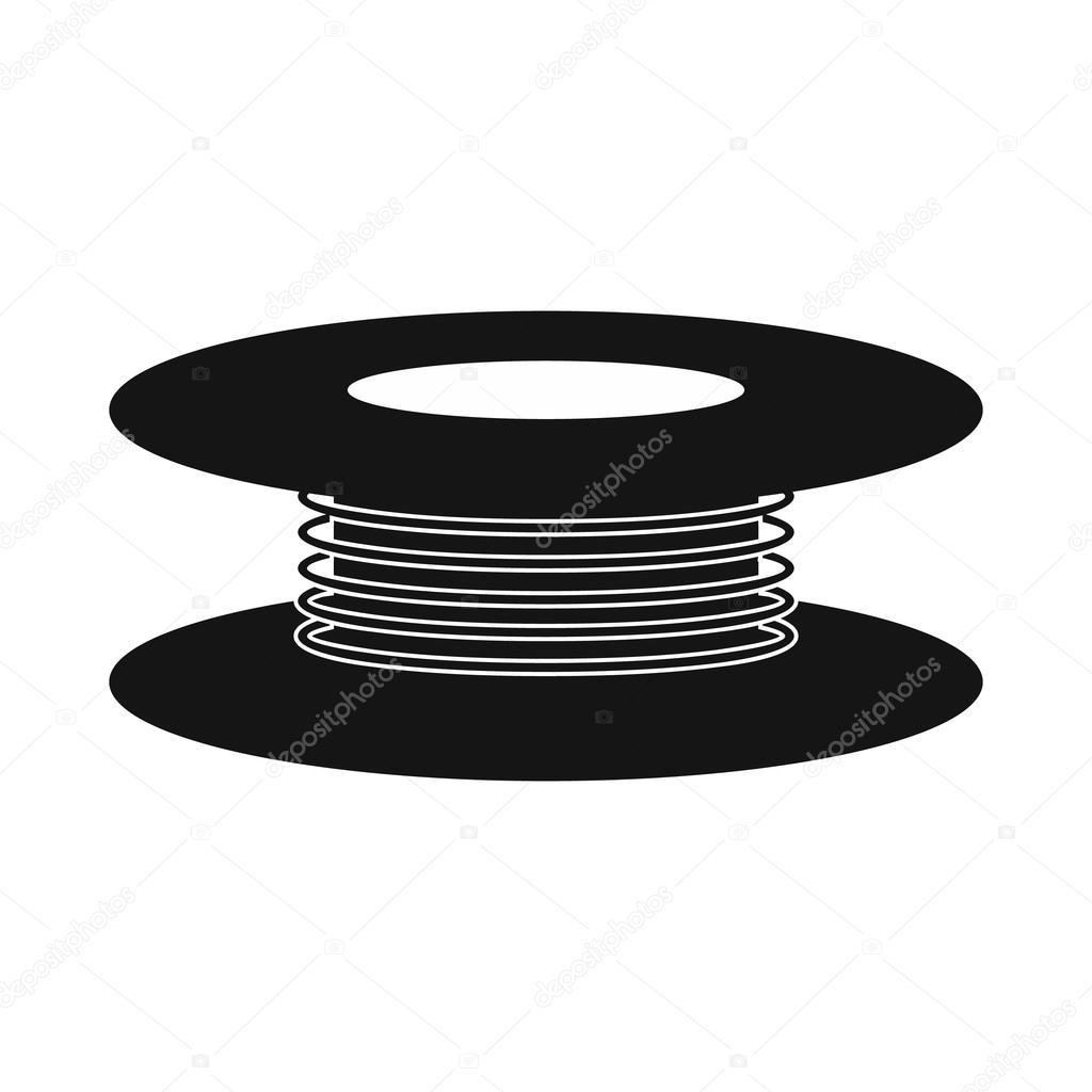 Draht-Spule-Symbol, einfachen Stil — Stockvektor © juliarstudio ...