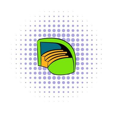 Stadium icon in comics style