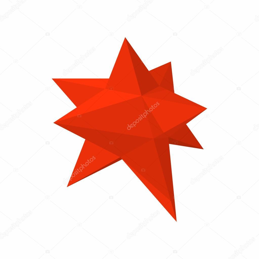Mährische Stern Sterne Symbol, Cartoon-Stil — Stockvektor ...