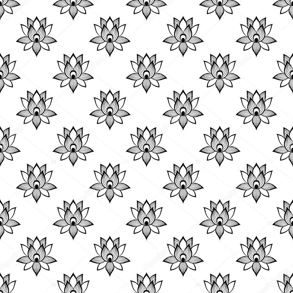 Lotus flower pattern seamless stock vector juliarstudio 107556308 lotus flower pattern seamless stock vector izmirmasajfo
