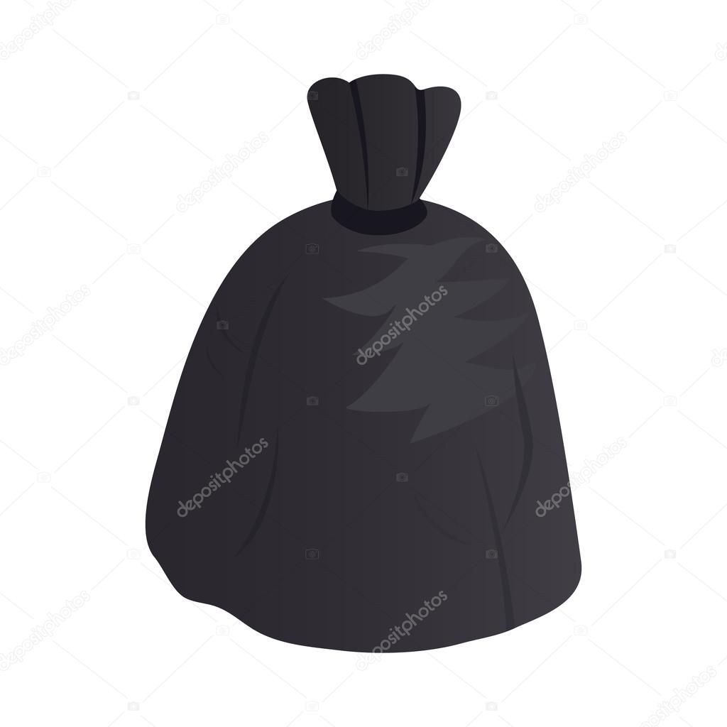 Garbage bag icon, isometric 3d style