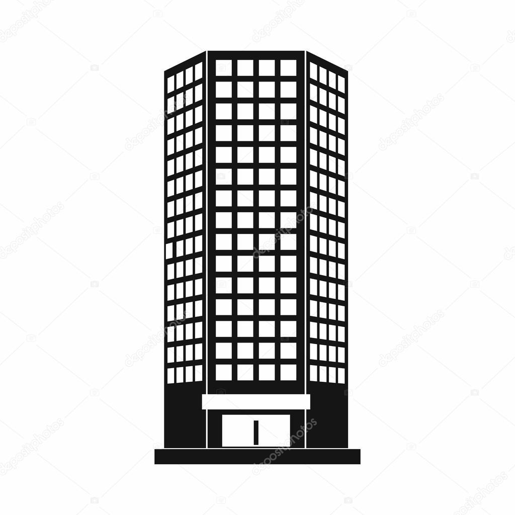 Icône De Limmeuble De Bureaux Moderne Style Simple Image
