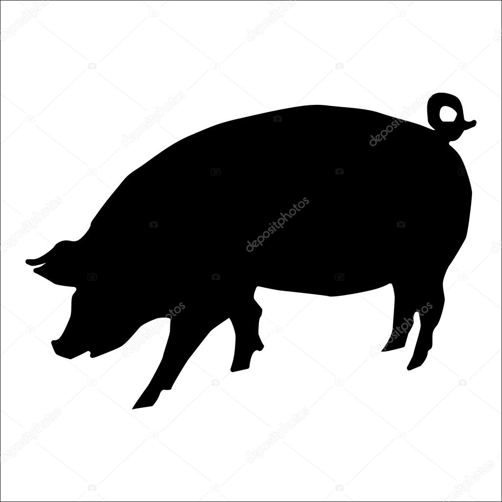 豚のシルエット ストックベクター Juliarstudio 86392286
