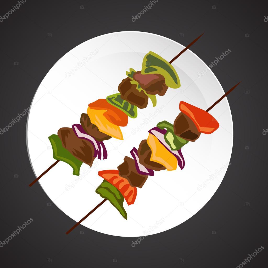 Shish-kebab illustration