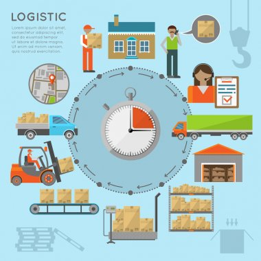Warehouse transportation infografics