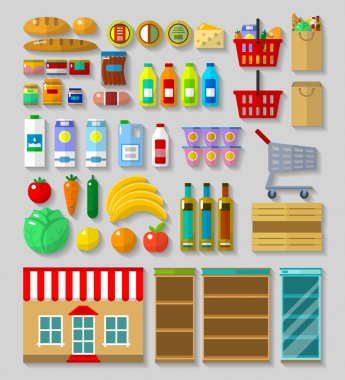 Shop, supermarket set