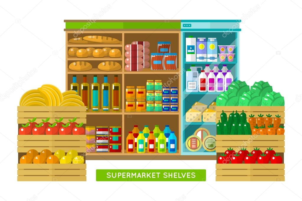 Shop, supermarket interior