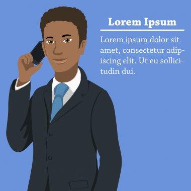 Black afroamerican business man concept