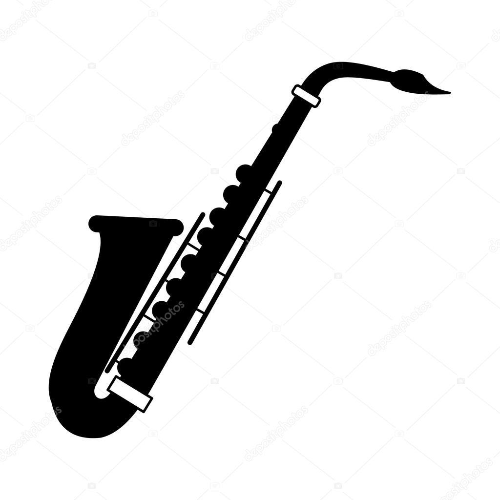 icono negro del saxof u00f3n vector de stock  u00a9 juliarstudio clarinet clipart graphic clarinet clip art free