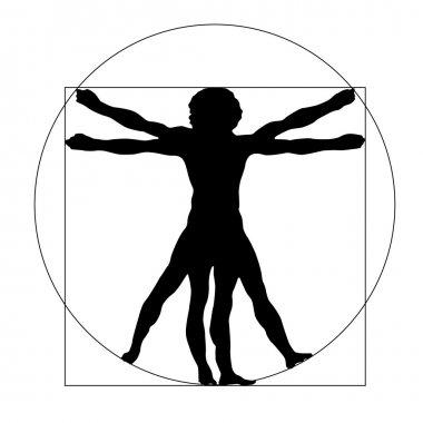 Vetruvian man silhouette