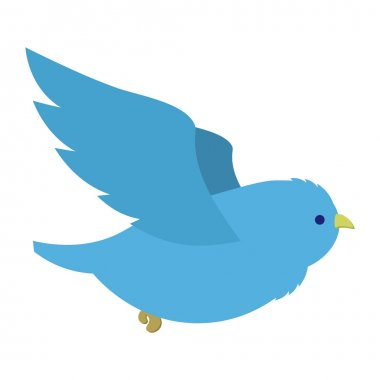 Flying blue bird illustration