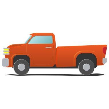 Pickup - cartoon car illustration