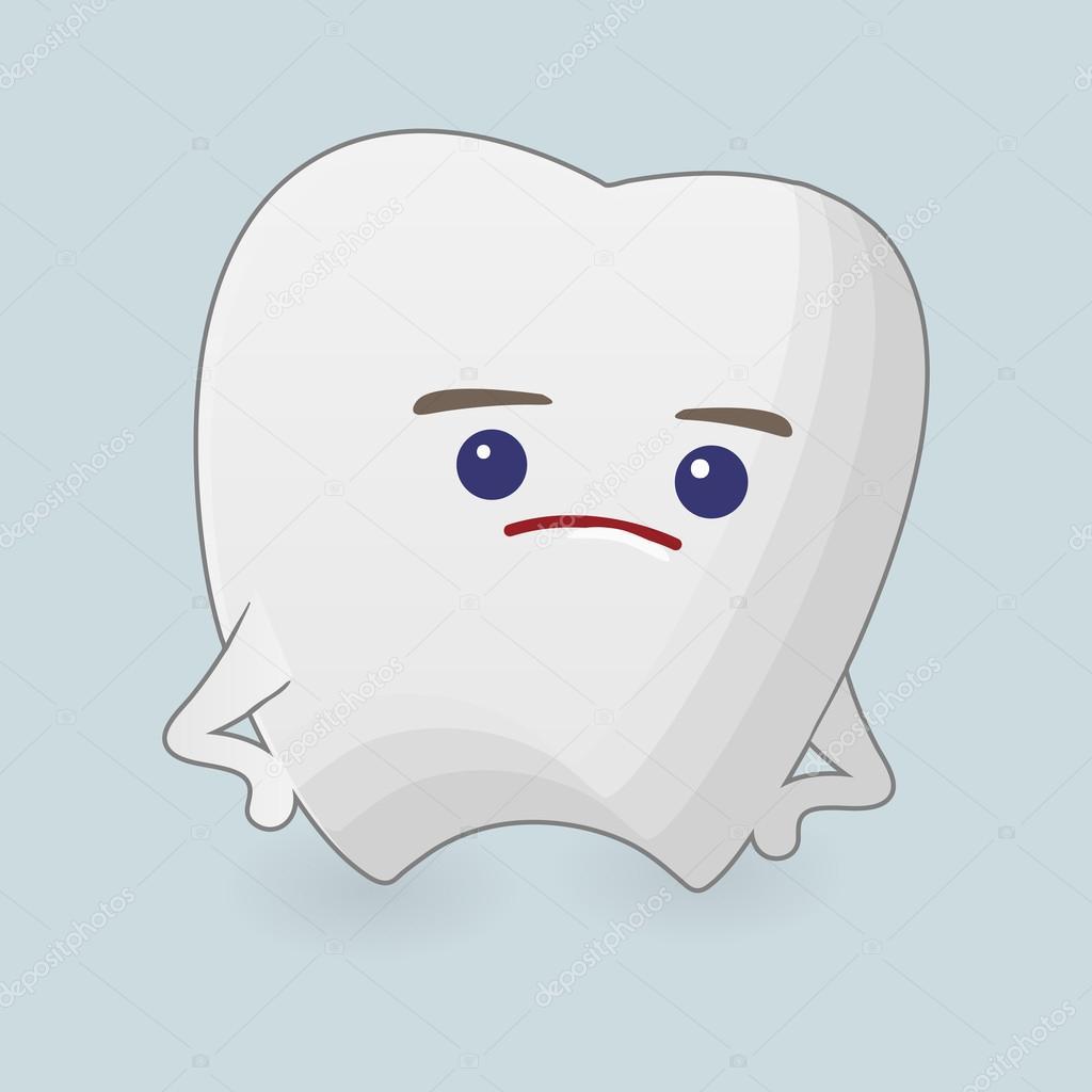 不満そうな歯イラスト ストックベクター Juliarstudio 90885894