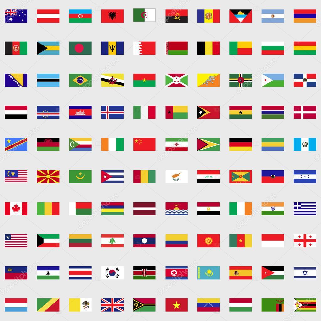 Lijst van vlaggen van de wereld set stockvector juliarstudio 91475198 - Basket thuis van de wereld ...