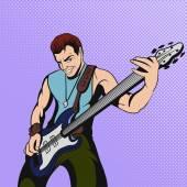 Fotografie Rock-Musiker-Comic