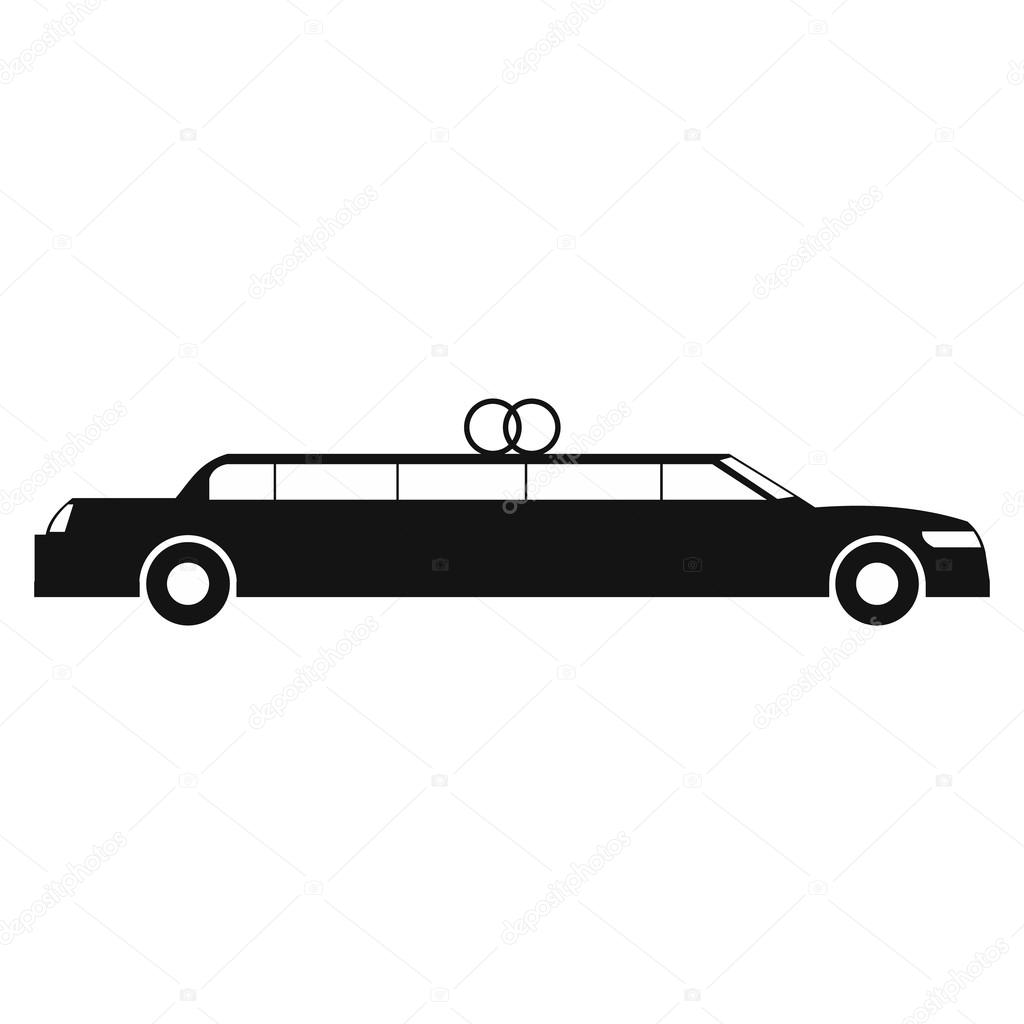 Limousine simple icon