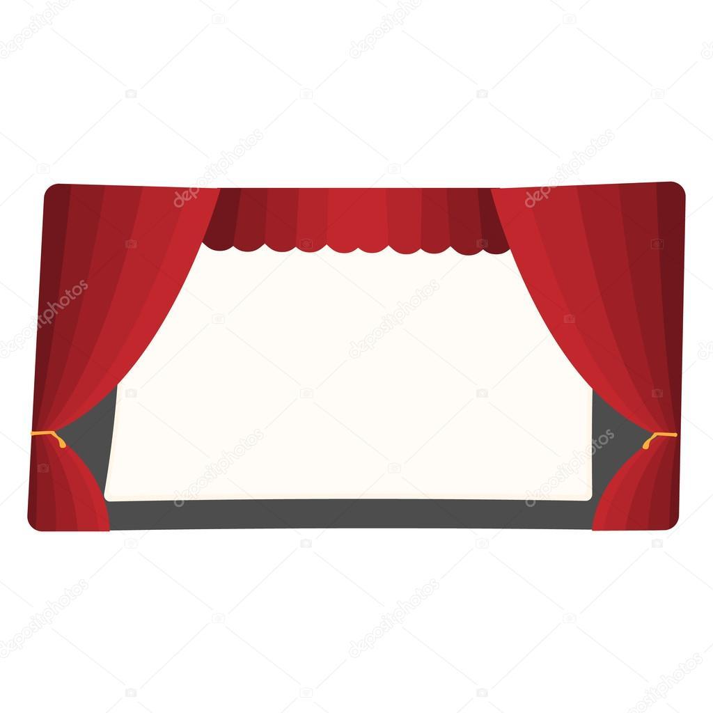 Sc ne de th tre de dessin anim image vectorielle - Dessin de theatre ...