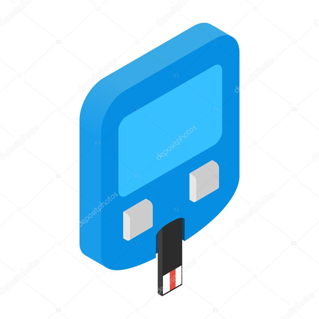 Home glucometer isometric 3d icon