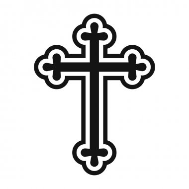 Christian cross simple icon