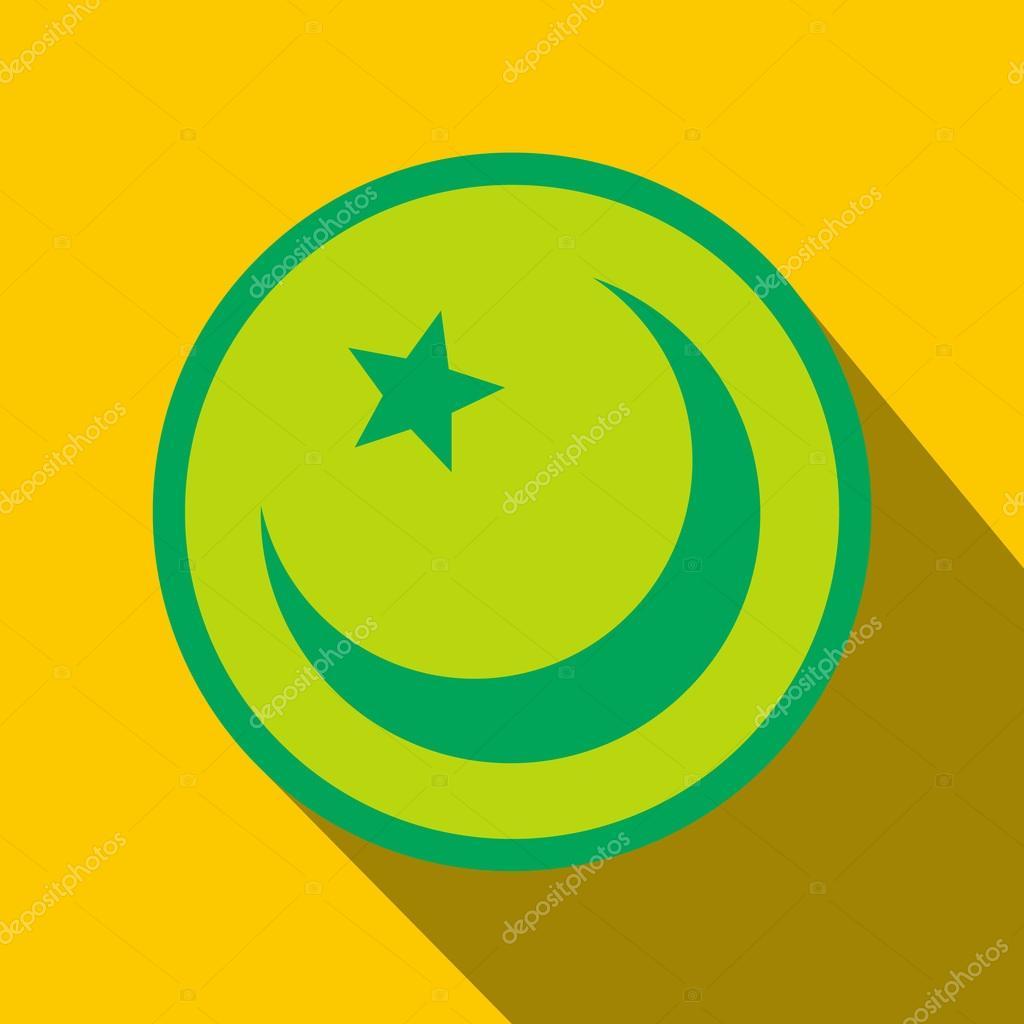 Islam Symbol Flat Icon Stock Vector Juliarstudio 92936556