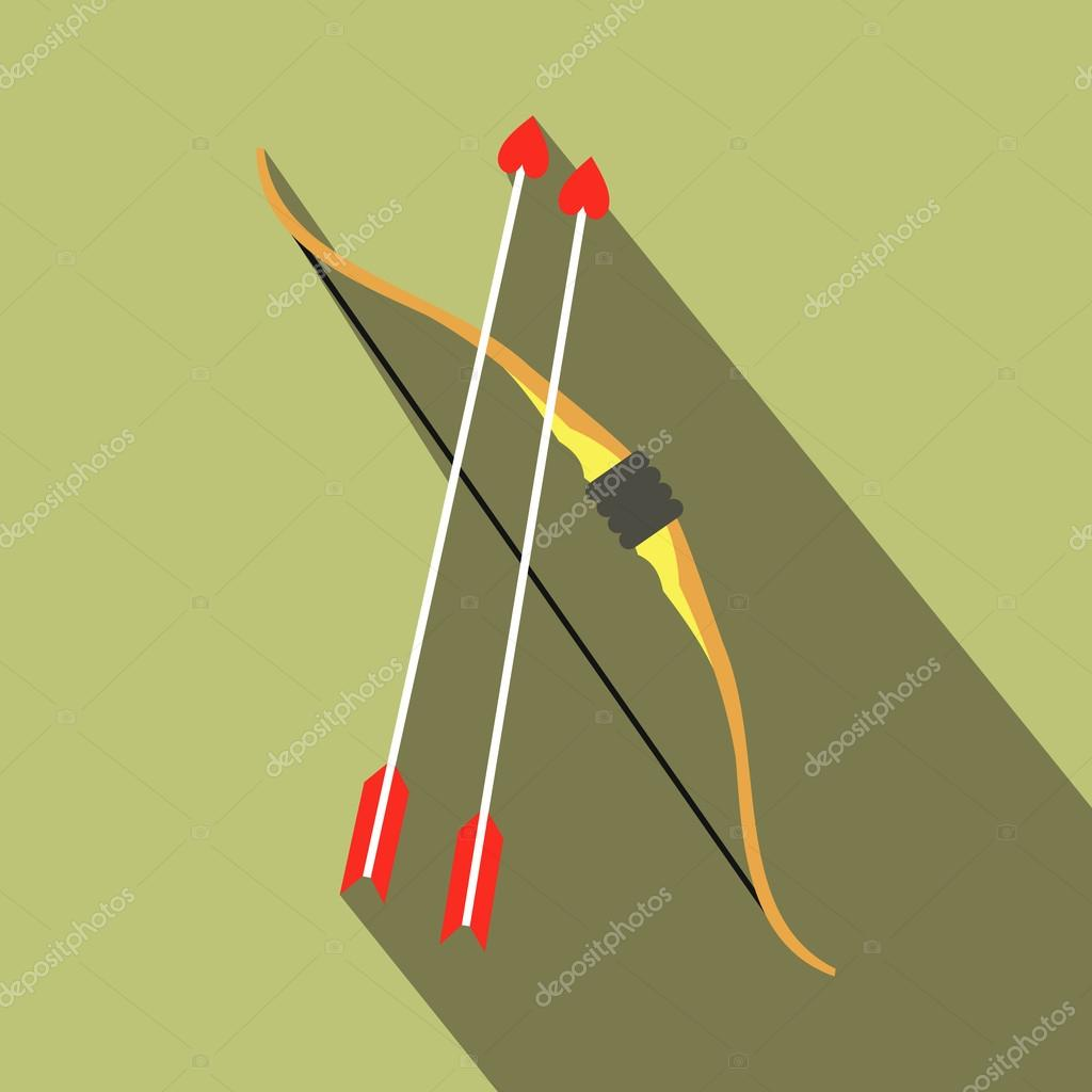Cupid bow and arrows icon