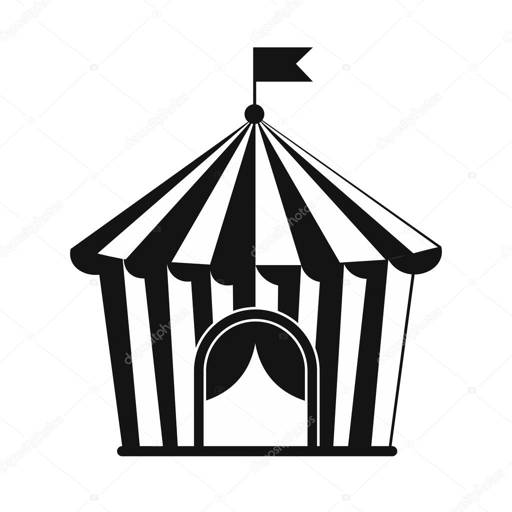 Vintage Circus Tent Simple Icon Isolated On White Background Vector By Juliarstudio
