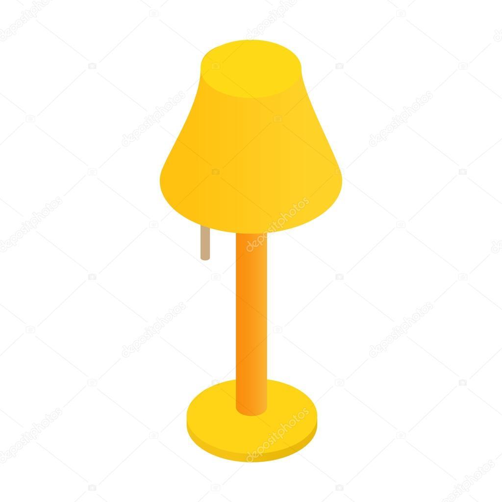 Floor lamp isometric 3d icon — Stock Vector © juliarstudio #94145672 for Floor Lamp Clipart  568zmd