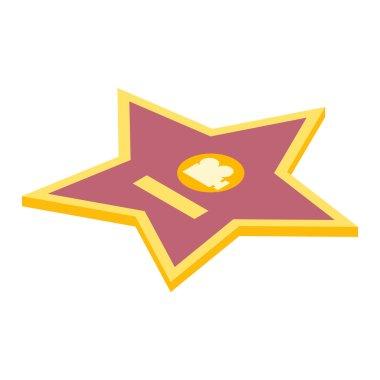 Movie star isometric 3d icon