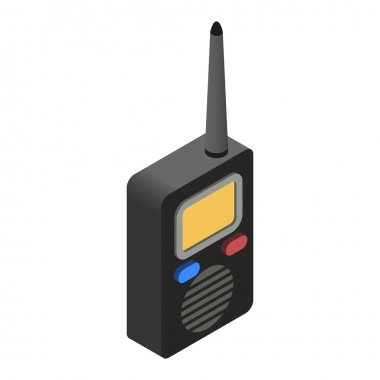 Radio isometric 3d icon