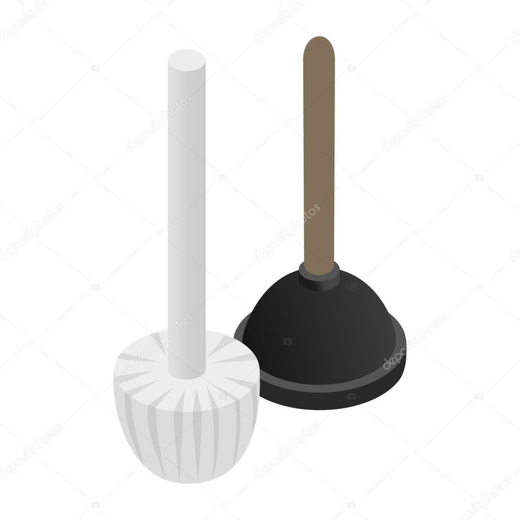 Plunger isometric 3d icon