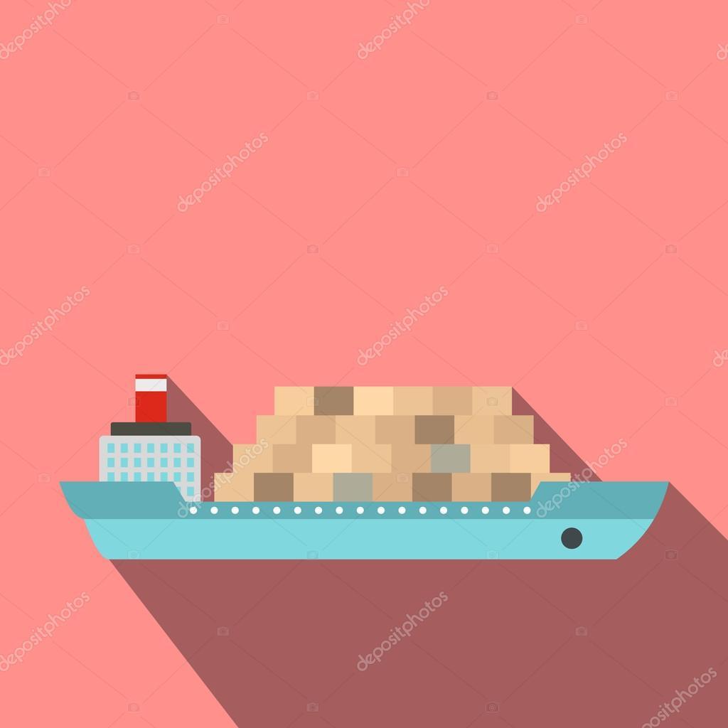 Cargo ship flat