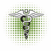 Fotografie Caduceus medizinische-Symbol Comic