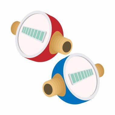 Water meters cartoon icon