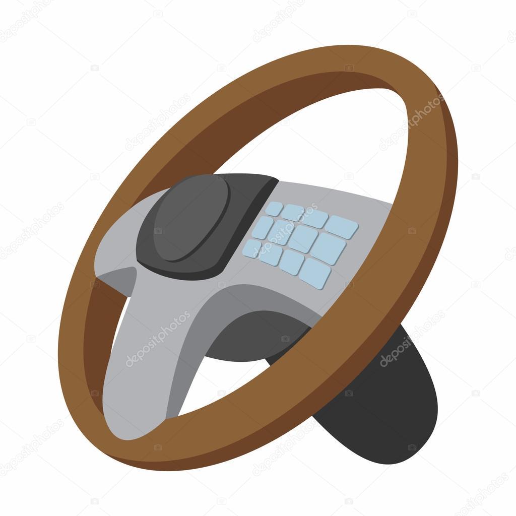 汽车方向盘卡通插图 — 图库矢量图像© juliarstudio #95514692