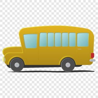 Yellow school bus cartoon