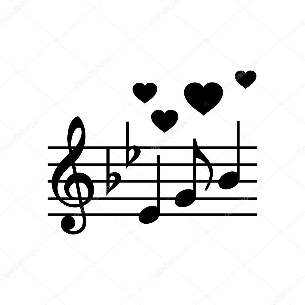 Hochzeit Musik Einfach Symbol Stockvektor C Juliarstudio 96825418