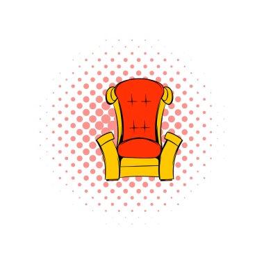Red throne isometric comics icon