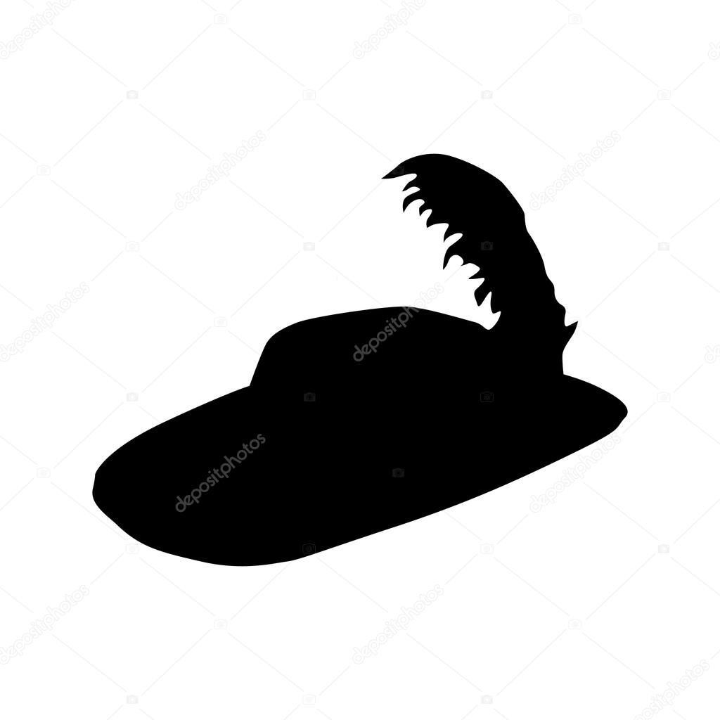 Hat black silhouette