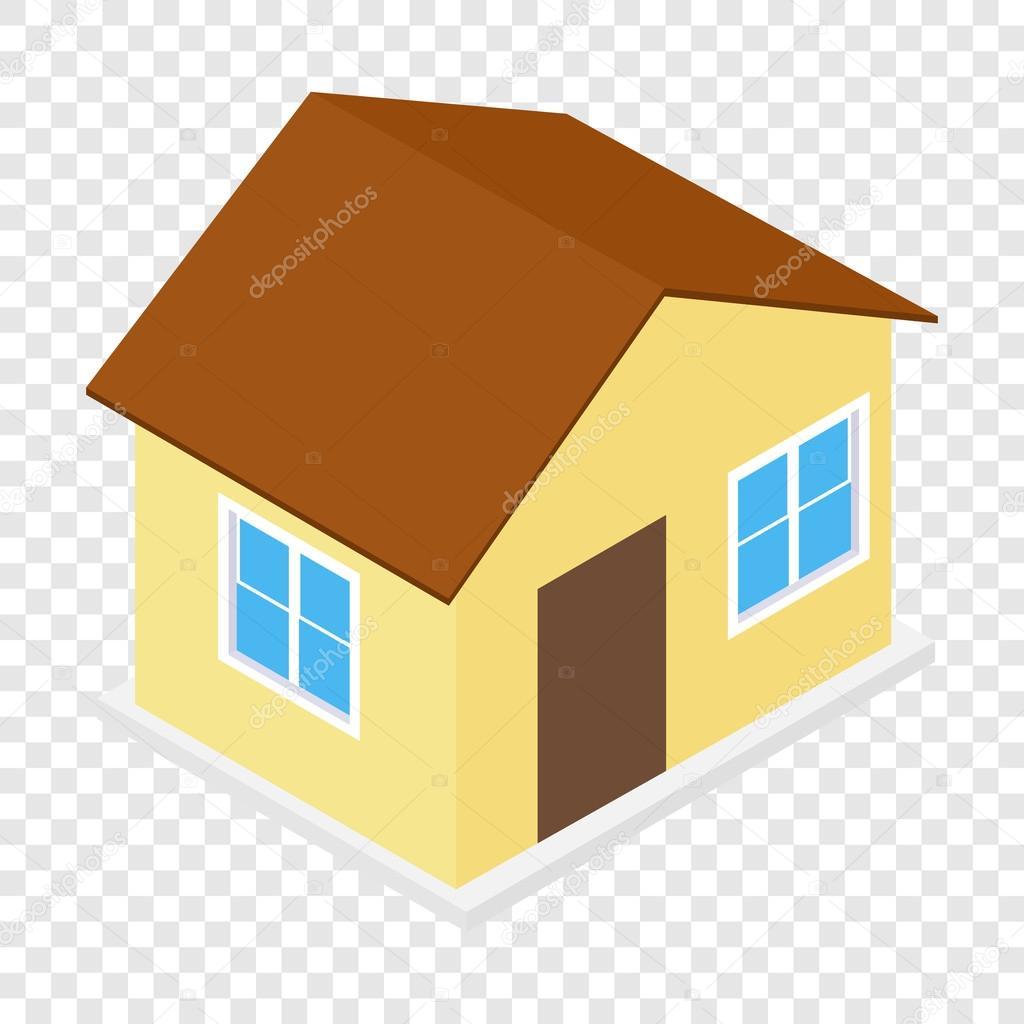 icono 3d isom trico de la casa vector de stock juliarstudio 97676212. Black Bedroom Furniture Sets. Home Design Ideas