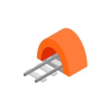 Railway tunnel isometric 3d icon