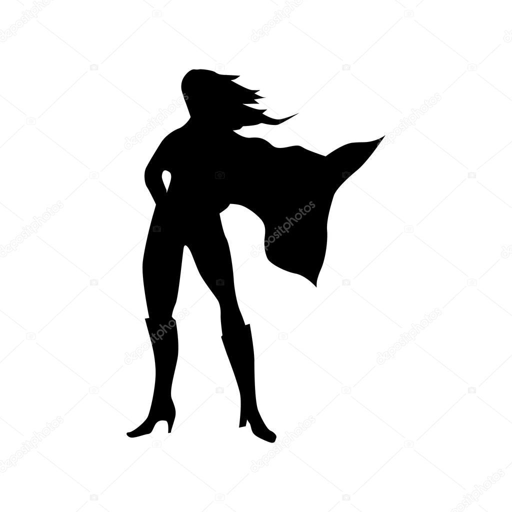 silueta de mujer de superh u00e9roe vector de stock  u00a9 juliarstudio 98416700 superwoman clip art free superwoman clipart png