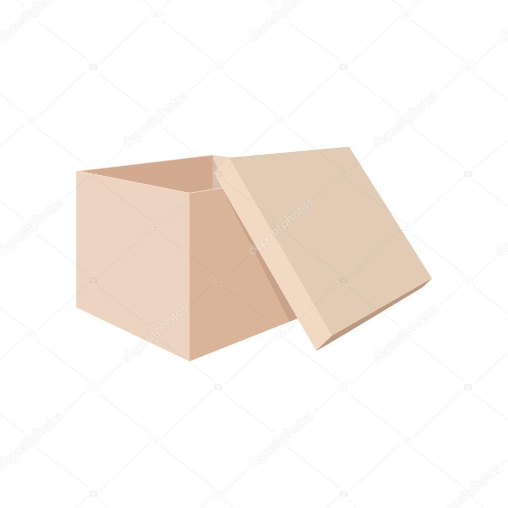 icône de dessin animé de boîte chaussure — image vectorielle