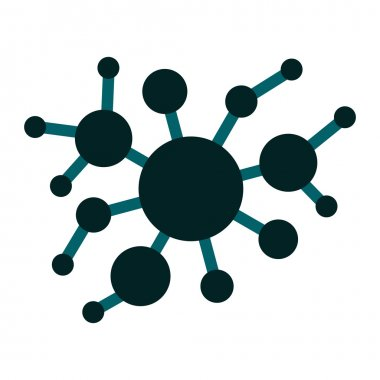 A group of virus flat icon
