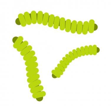 Rod-shaped flat icon