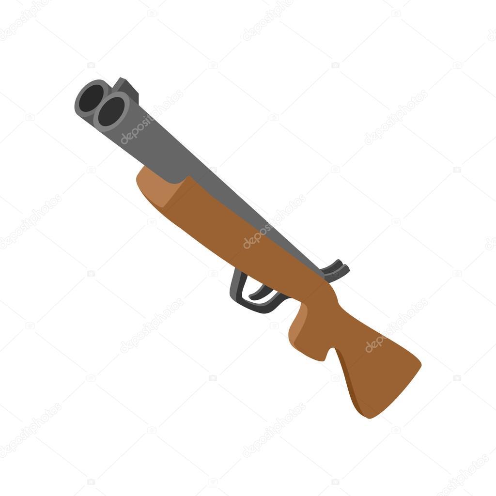 Dessin Fusil De Chasse icône de dessin animé pour le fusil chasse — image vectorielle