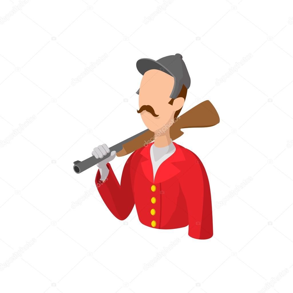 Personaggio di simone retrò dei cartoni animati u vettoriali stock