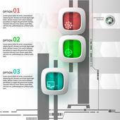 Infografika 3 kroky
